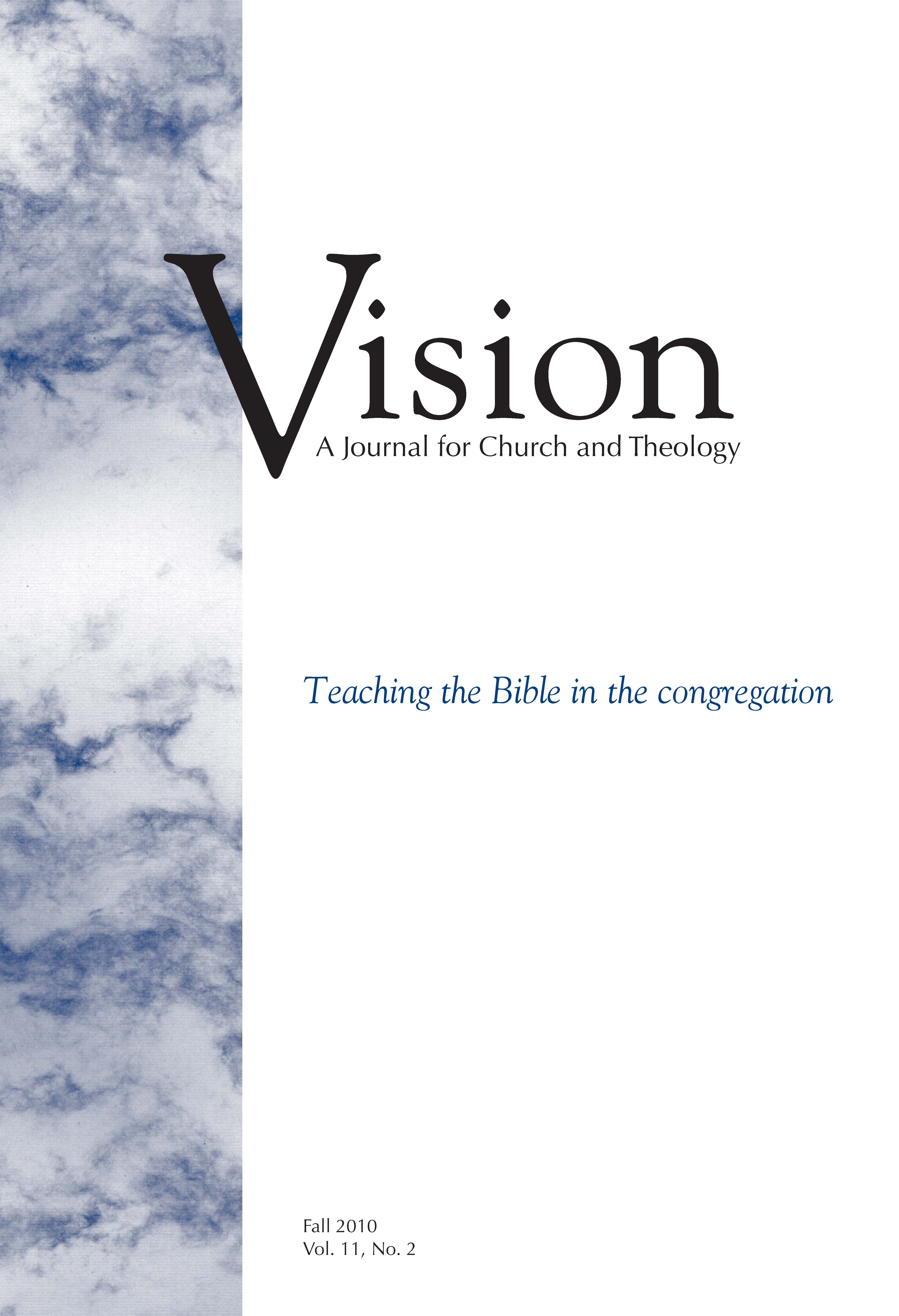 vision cover teaching the bible in the congregation