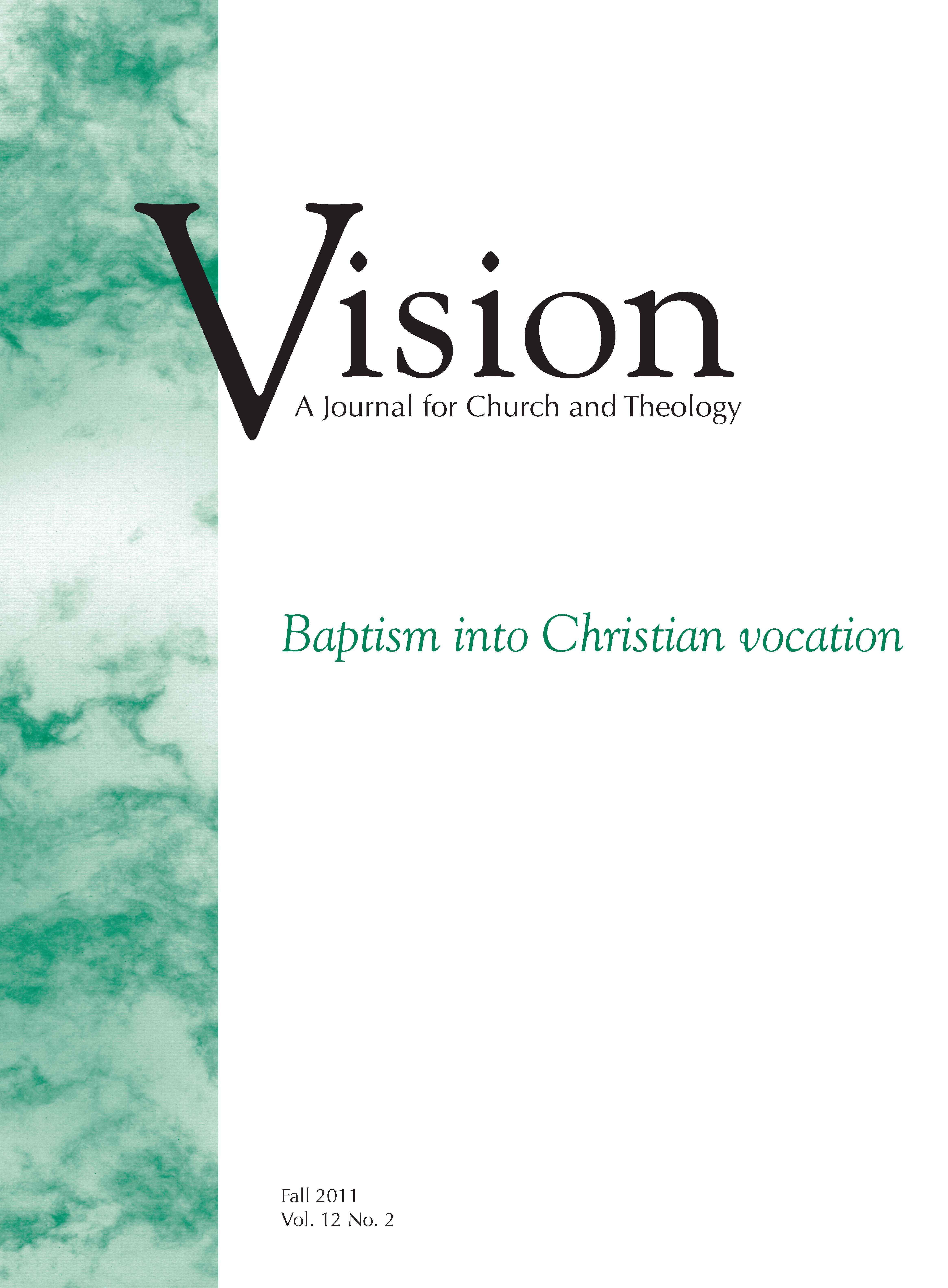 vision cover baptism into christian vocation