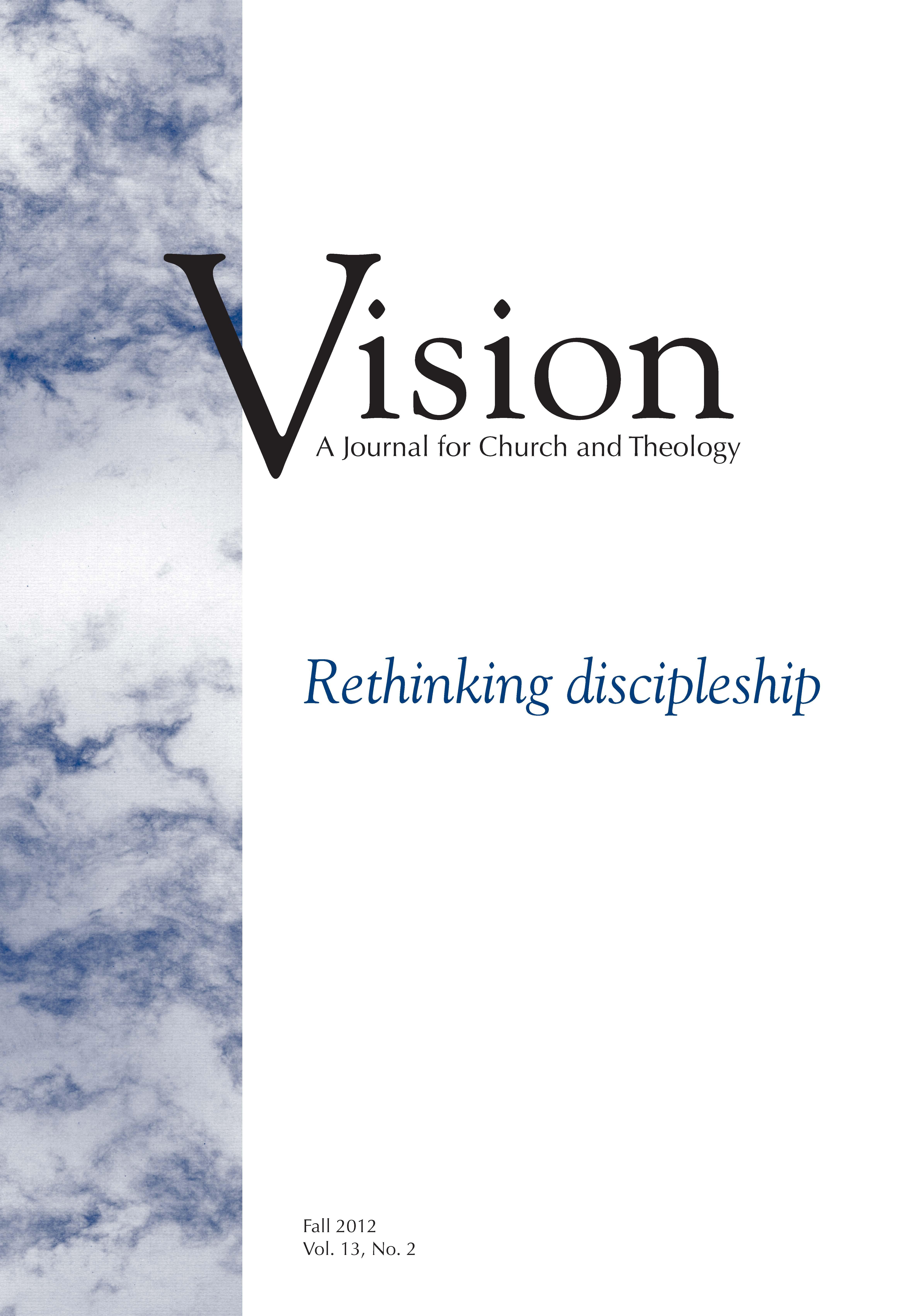 vision cover rethinking discipleship