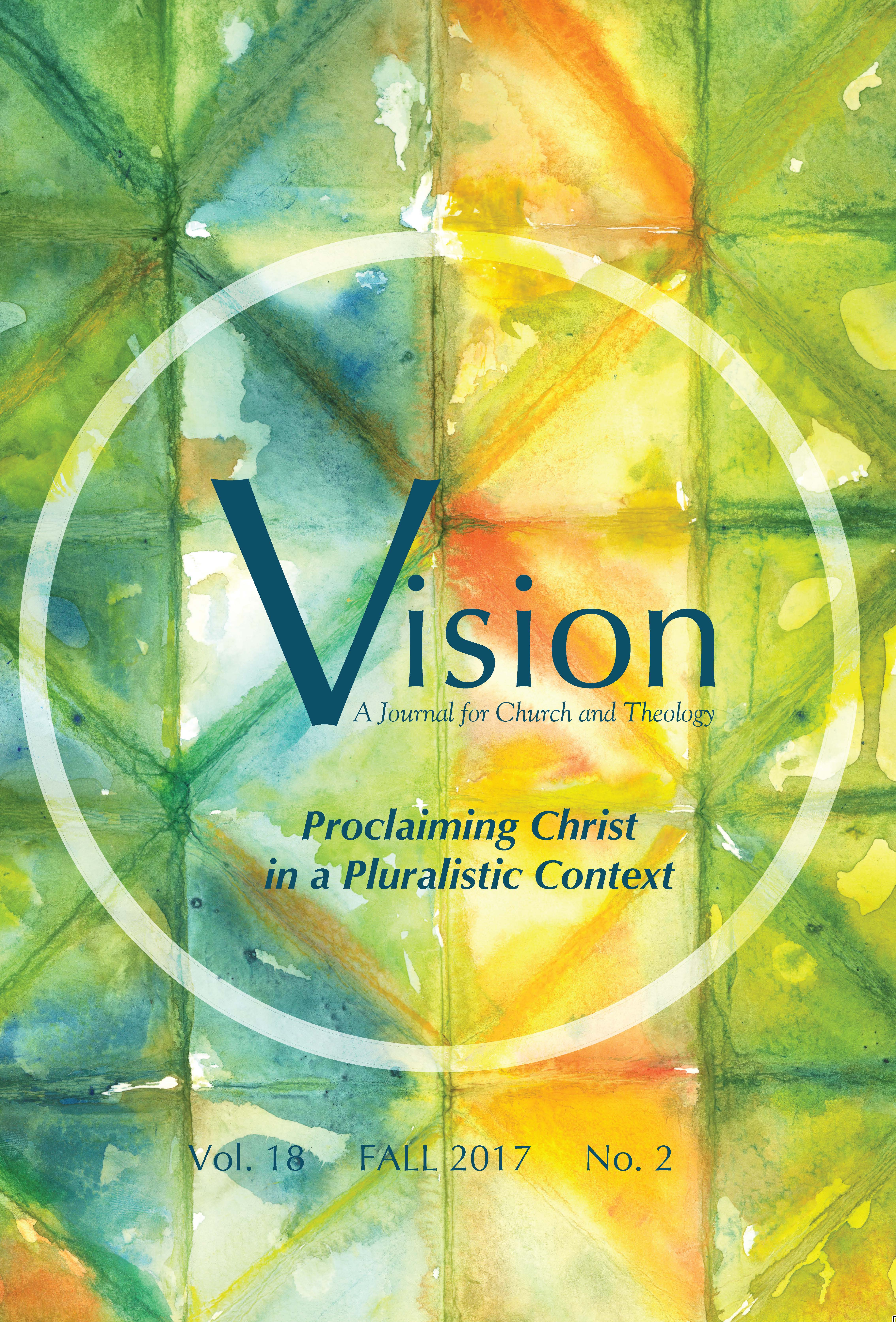 vision cover proclaiming christ in a pluralistic context